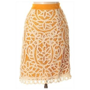 Anthropologie Lacemaker Skirt